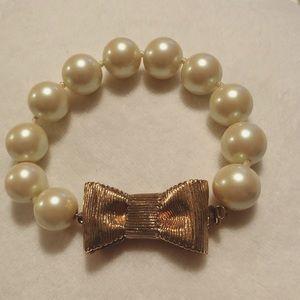Kate Spade pearl bow bracelet